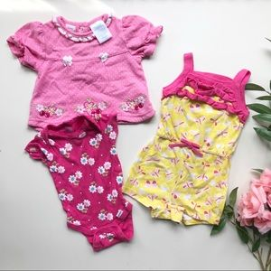 Other - Three cute baby girl outfits all 6-9 months